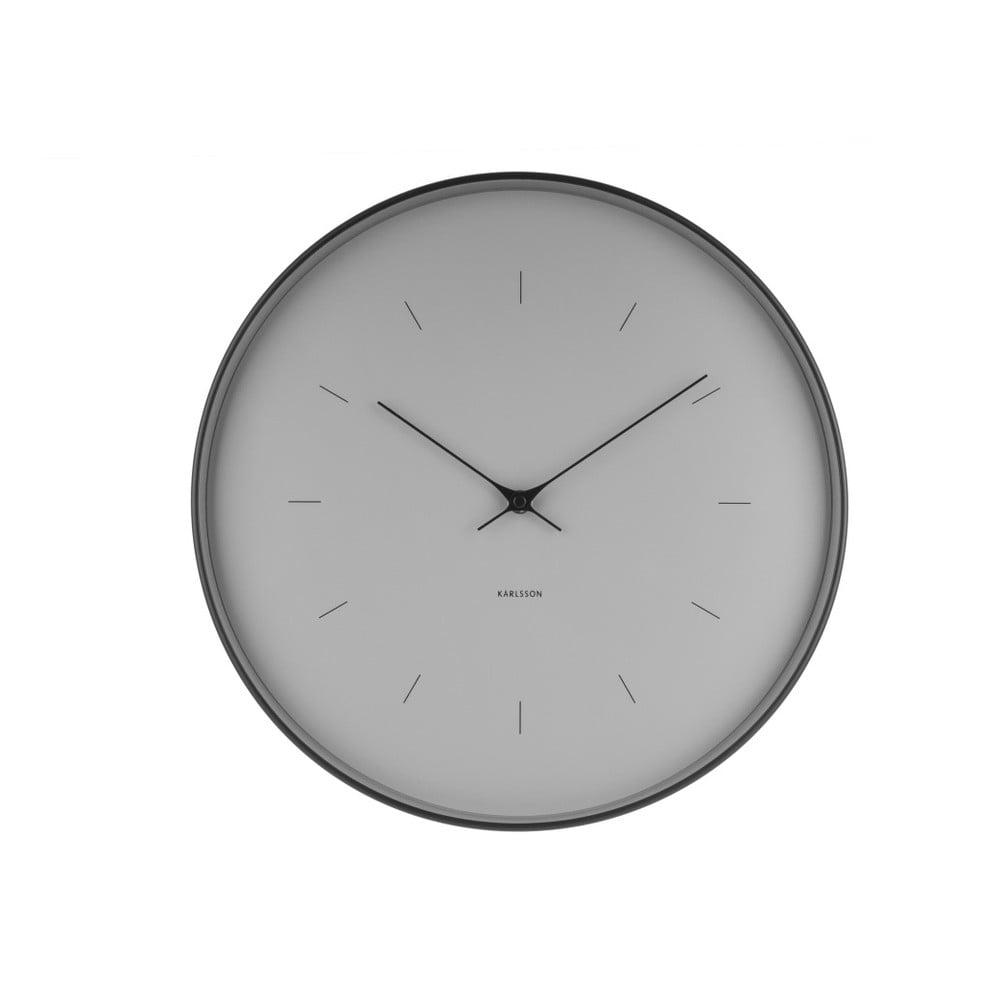 Šedé nástěnné hodiny Karlsson Butterfly, Ø 37,5 cm