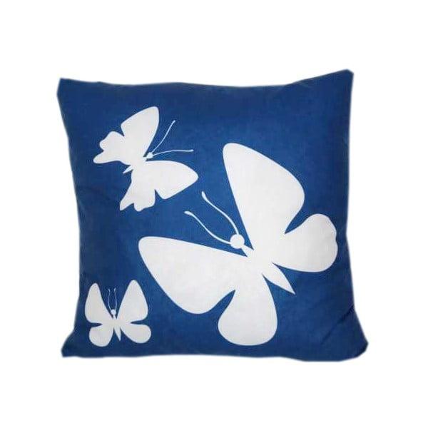 Polštář Butterfly Blue, 42x42 cm