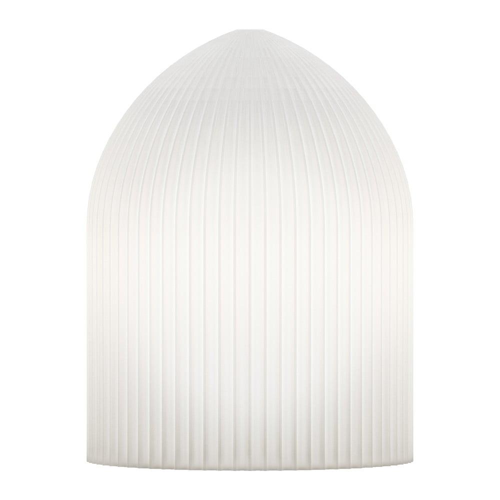 Bílé závěsné stínidlo VITA Copenhagen Ripples Curve, Ø15cm