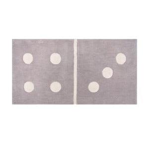 Dětský šedý koberec Domino, 60x120 cm