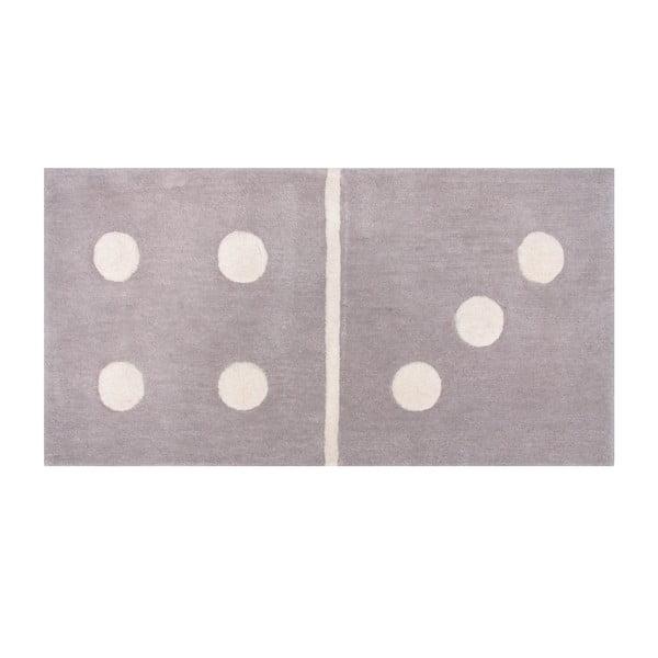 Covor gri pentru copii Domino, 60x120 cm