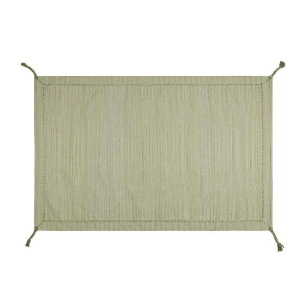 Bavlněný koberec Twist Green,70x120cm