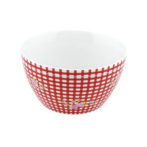 Porcelánová miska Karo, červená 4 ks