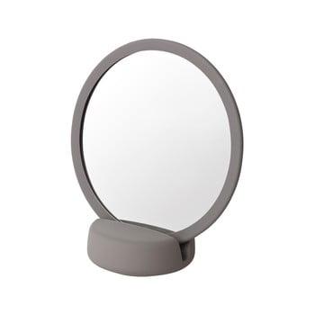 Oglindă cosmetică pentru masă Blomus, înălțime 18,5 cm, gri