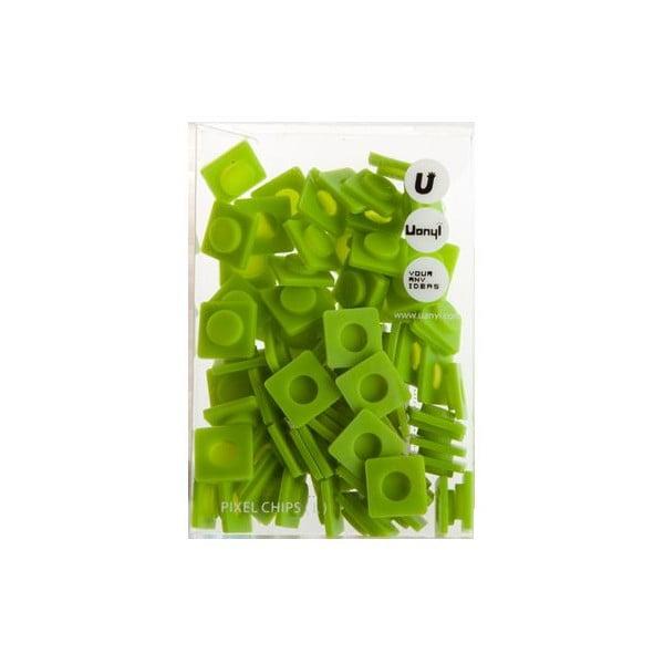 Sada 80 velkých pixelů, mint green