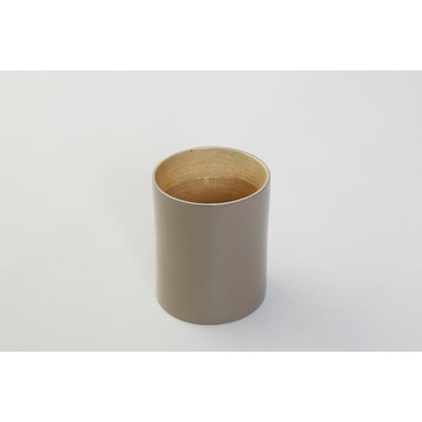 Bambusová dóza na kuchyňské nástroje Bamboo Taupe, 10 cm