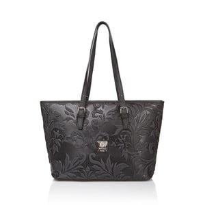 Černá kožená dámská kabelka Medici of Florence