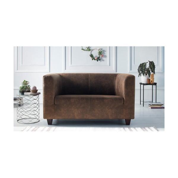 Set canapea cu 2 locuri și 2 fotolii Bobochic Paris Django Preston, maro