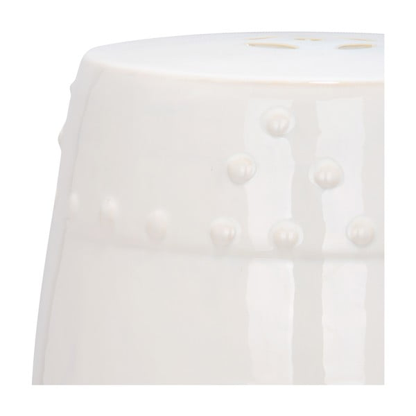 Bílý keramický stolek Safavieh Mali