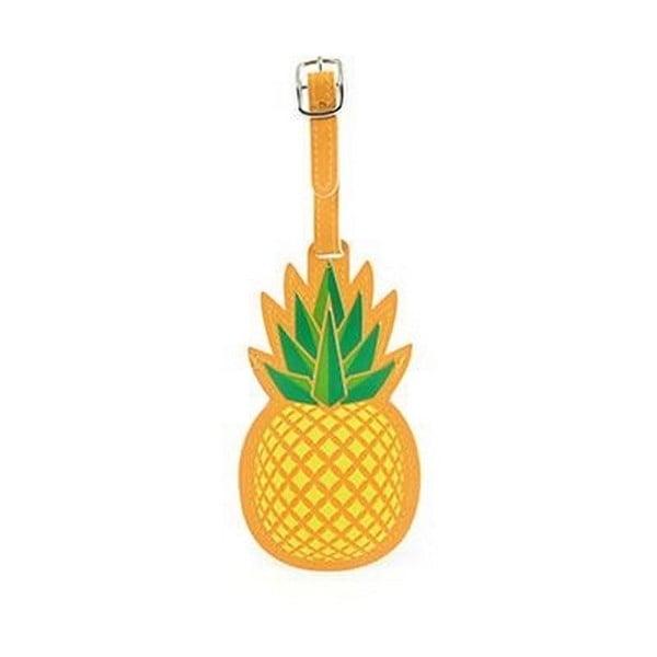 Jmenovka na kufr ve tvaru ananasu Kikkerland