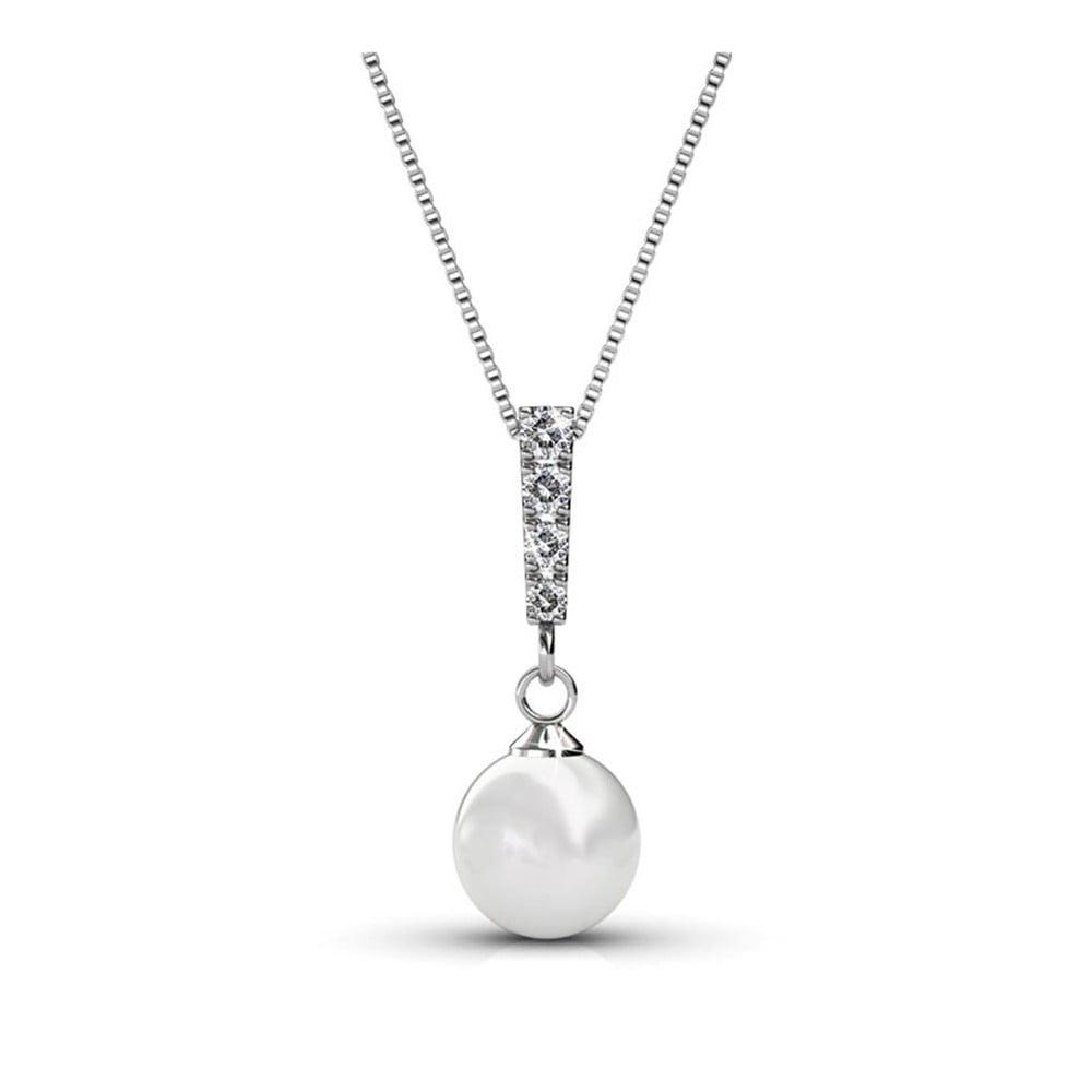 Pozlacený náhrdelník se Swarovski krystaly Musaventura Perla