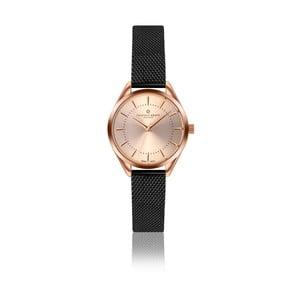 Dámské hodinky s černým páskem z nerezové oceli Frederic Graff Melissa