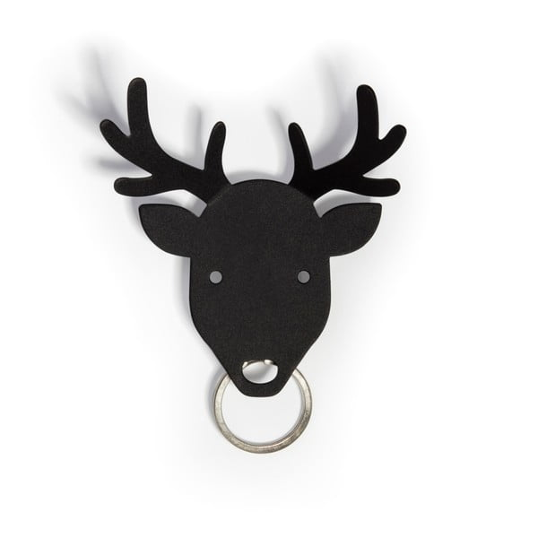 Věšák na klíče Deer, černý