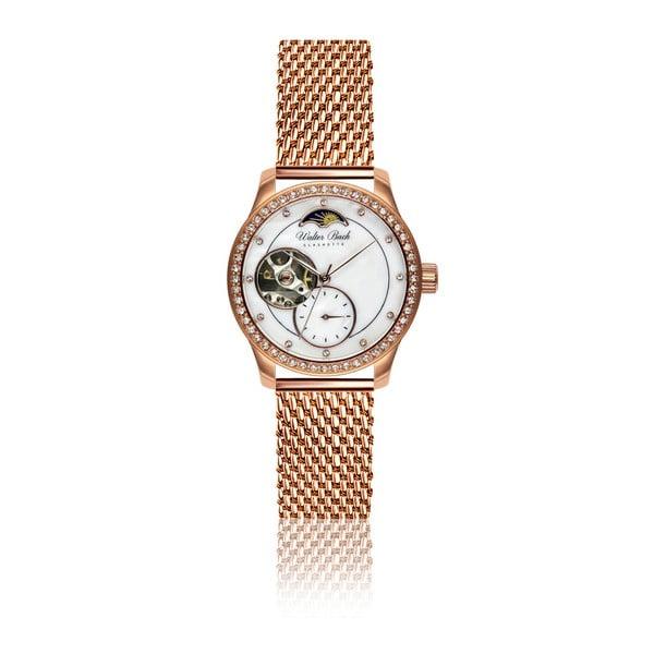 Damski zegarek z paskiem ze stali nierdzewnej w różowozłotym kolorze Walter Bach Malso