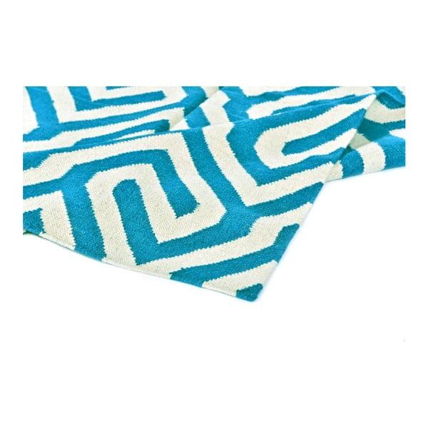Vlněný koberec Geometry Modern Turquoise, 160x230 cm