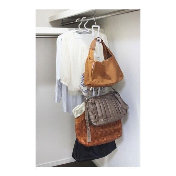 Bílý věšák na kabelky se zavěšením na dveře a 6 háčky YAMAZAKI Kanazawa