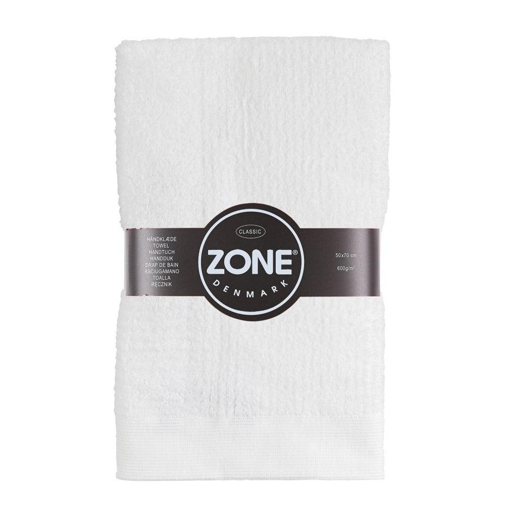 Bílý ručník Zone Classic, 50x70 cm
