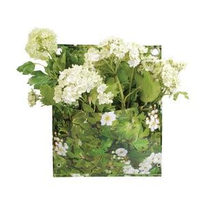 Zelená nástěnná taška na květiny Esschert Design Mia