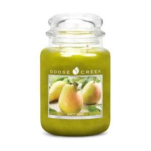 Lumânare parfumată în recipient de sticlă Goose Creek Juicy Pear, 150 ore de ardere