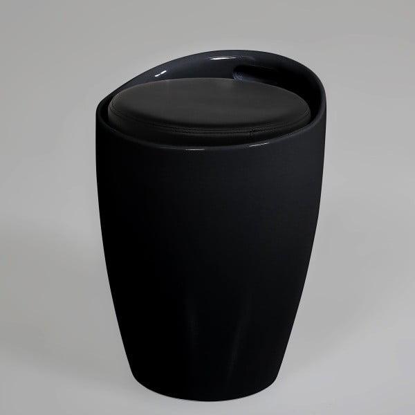 Stolička s úložným prostorem Minxie, černá