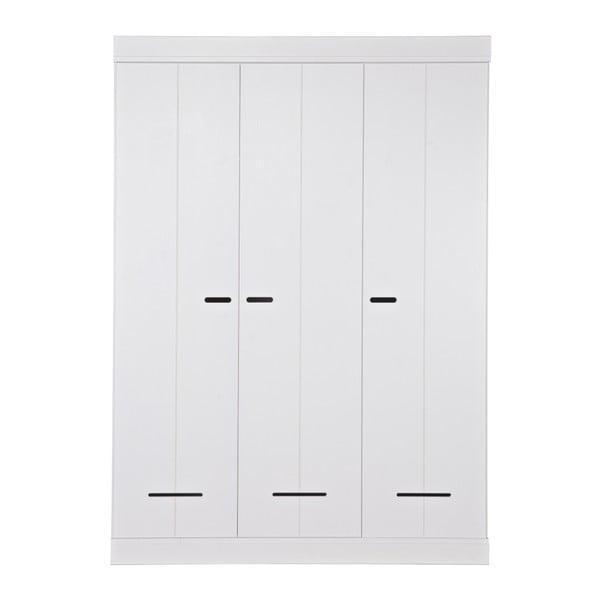 Trojkřídlá skříň Locker, bílá