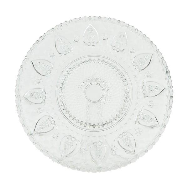 Skleněný talíř Clayre Decor, 30 cm