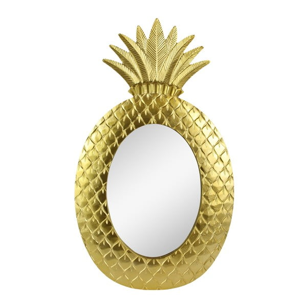 Nástěnné zrcadlo ve zlaté barvě Le Studio Gold Pineapple