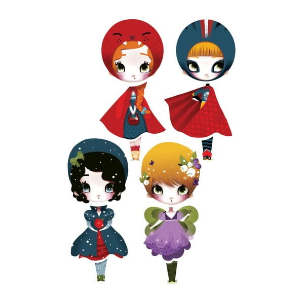 Samolepka Dress Up Dolls I, 4 ks