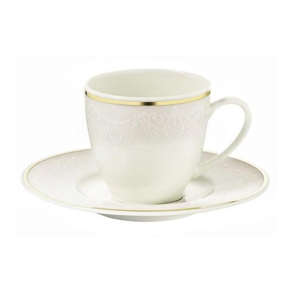 Sada 6 porcelánových šálok na kávu s tanierikom Kutahya Cape Town, 50 ml