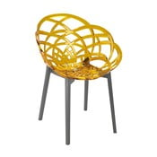Židle Flora antracit/amber