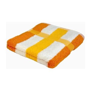 Ručník New York Strips Orange/White/Yellow, 70x140 cm