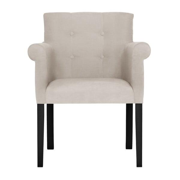 Bílá židle s černými nohami z bukového dřeva Ted Lapidus Maison Flacon