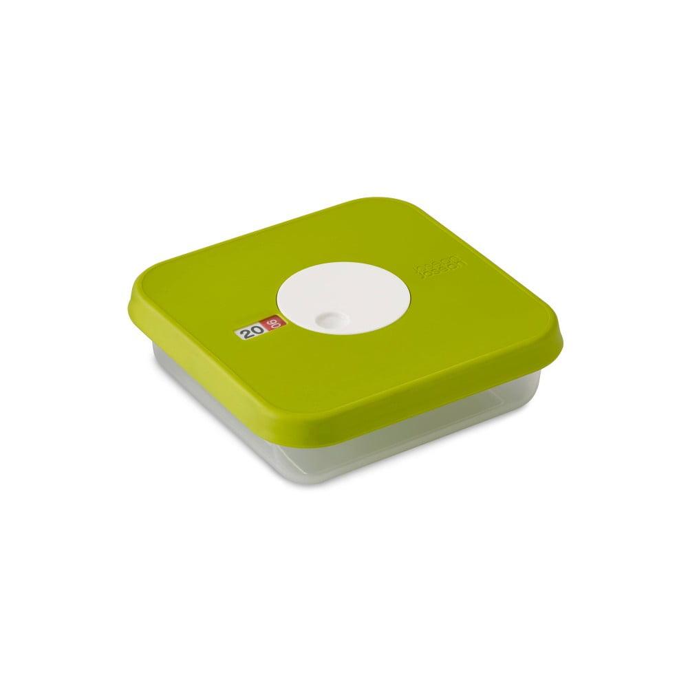 Zelená krabička na potraviny s nastavitelným datem Joseph Joseph Dial, 0,9L