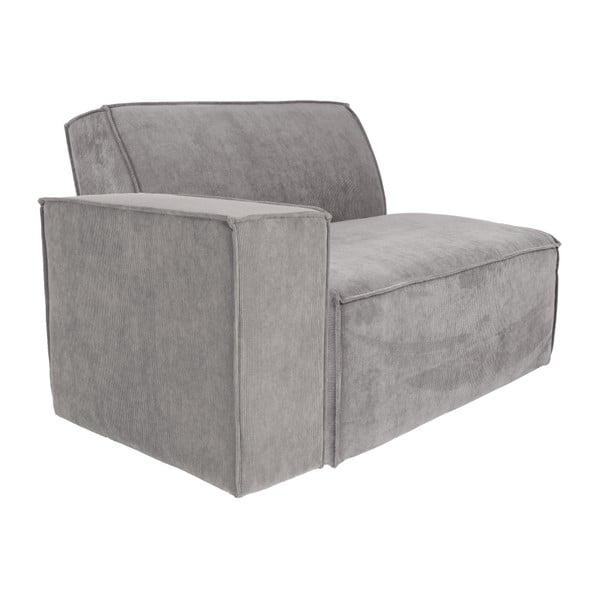 James világosszürke szélső ülőrész elemes kanapéhoz jobbos karfával - Zuiver