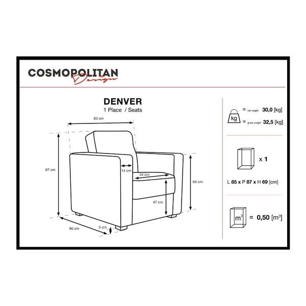 Tmavě modré křeslo Cosmopolitan Design Denver