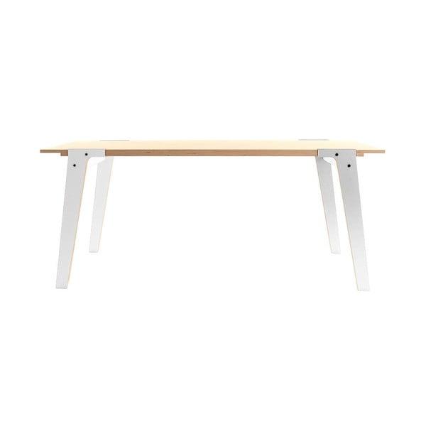 Bílý jídelní/pracovní stůl rform Switch, deska 180x78 cm