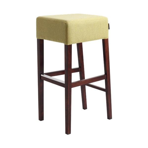 Limetkově zelená barová stolička s tmavě hnědými nohami Custom Form  Poter