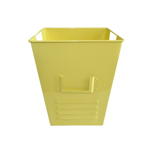 Plechový koš Waterquest 25x30 cm, pastelově žlutý