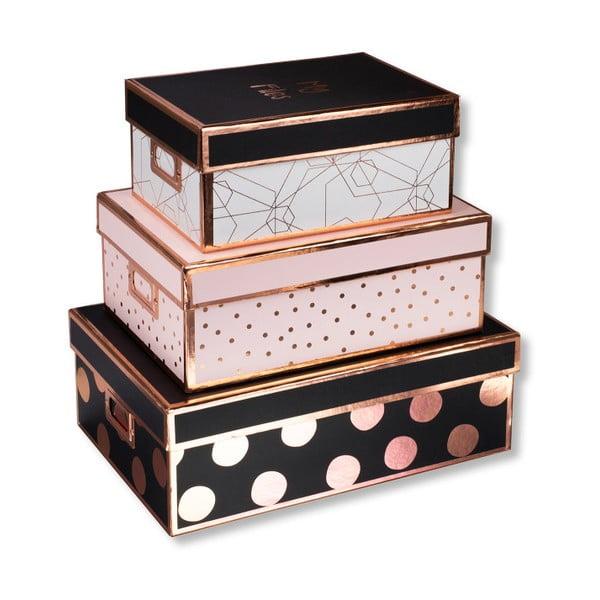 Set 3 cutii colorate pentru depozitare Tri-Coastal Design Poppy