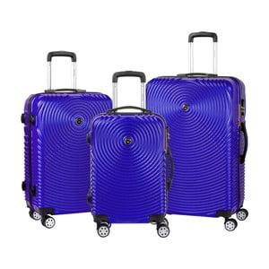 Sada 3 fialových cestovních kufrů na kolečkách Murano Traveller