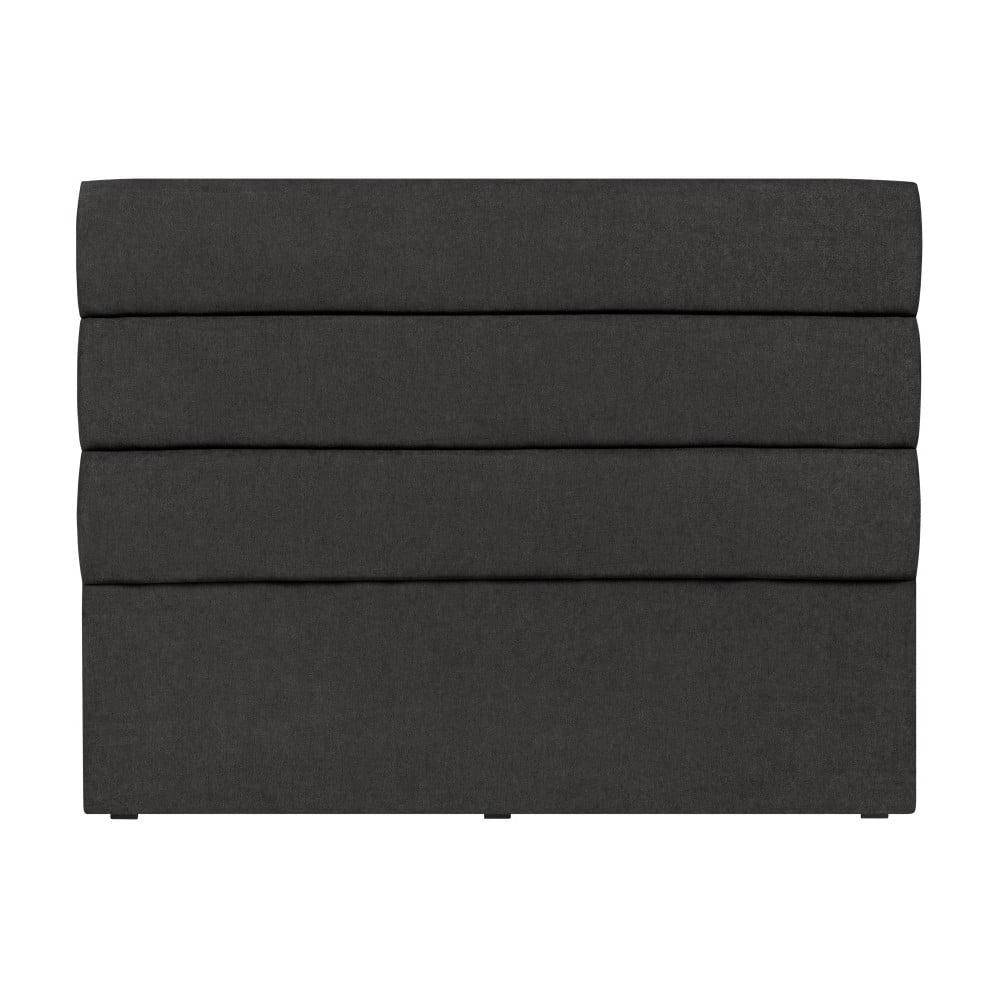 Černé čelo postele Mazzini Sofas Pesaro, 160 x 120 cm