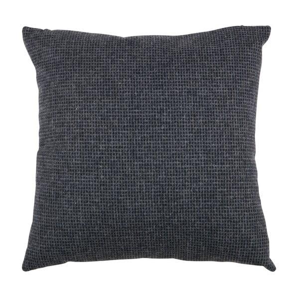 Tmavě modrý polštář WOOOD Roan, 45x45cm