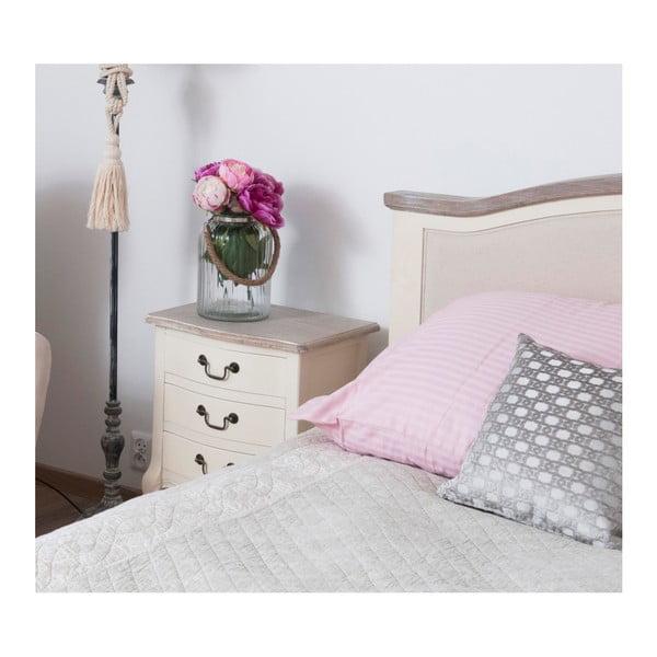 Bílý noční stolek z topolového dřeva Livin Hill Santo