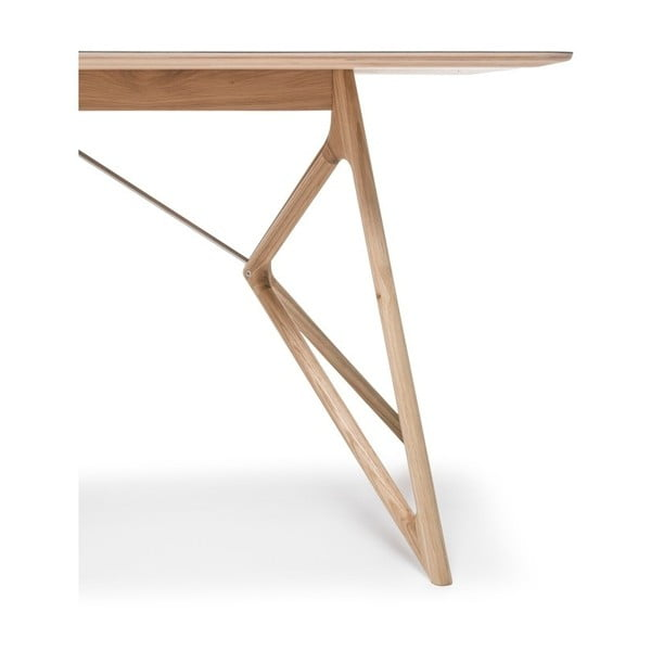 Dubový jídelní stůl Tink Linoleum Gazzda, 180cm, černý