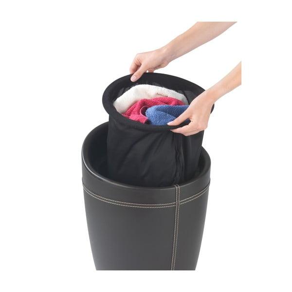 Hnědý koš na prádlo a taburetka v jednom Wenko Candy Look