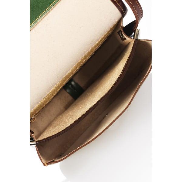 Zelená kožená kabelka Lisa Minardi Laura