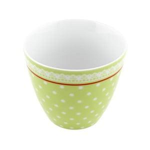 Porcelánový šálek Dots S, zelený 4 ks