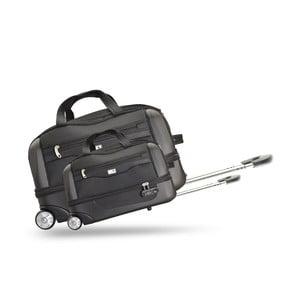 Sada 2 cestovních tašek na kolečkách Roulettes Black, 111 l/65 l