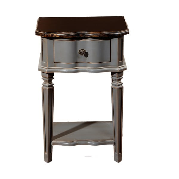 Noční stolek se zásuvkou Transilvania Belgique Grey