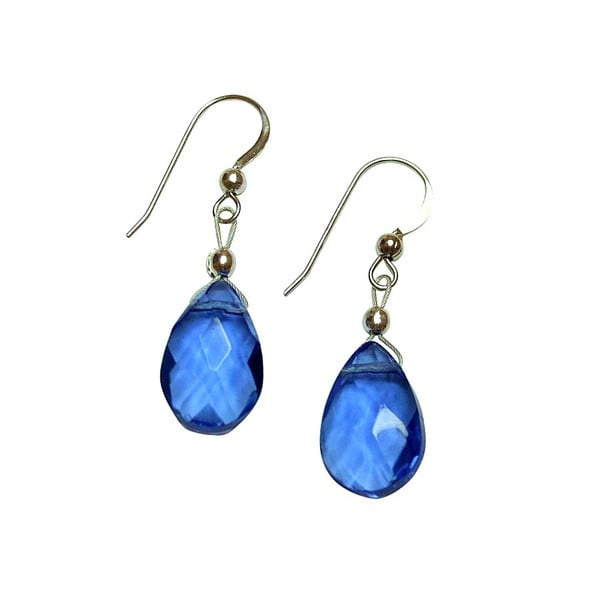 Stříbrné náušnice Teardrop Aqua Blue Topaz (topaz)